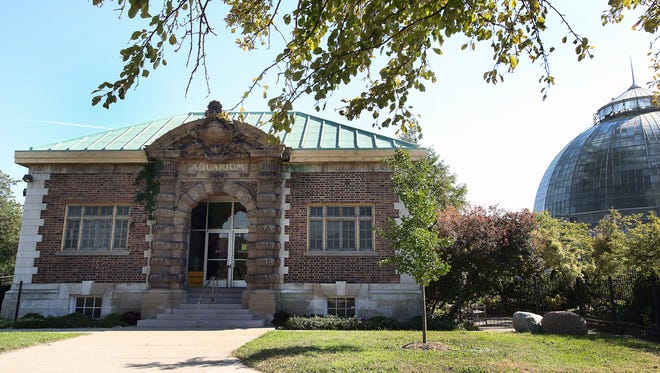 The Belle Isle aquarium was designed by noted architect Albert Kahn and originally opened in 1904.