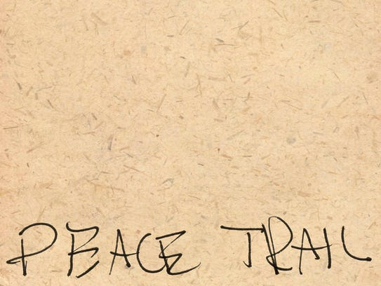 Cover art for Neil Young's latest album 'Peace Trail.'