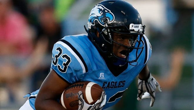 TLCA running back Kentrell Williams had the Eagles' only touchdown Friday in their 48-7 loss to Colorado City.
