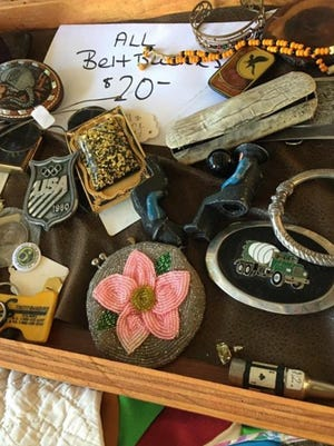 """Rustic Nashville"" from Nashville, TN will be setup selling flannels, jackets, vintage hats and belt buckles at Holiday Fleur De Flea Vintage Market."
