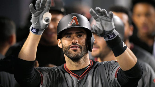 J.D. Martinez hit 29 home runs in 62 games with Arizona last season.