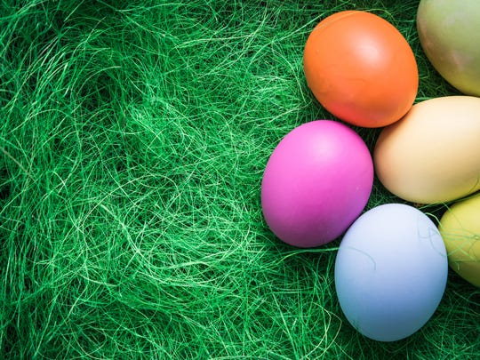 Getty Images/iStockphoto Pastel painted Easter eggs