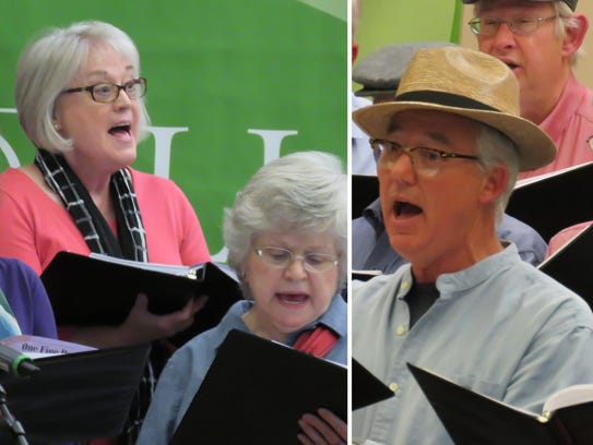 The Reuter Center Singers are a mixed chorus of men