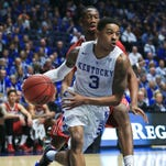 Kentucky's Tyler Ulis had 17 points with his five assists in the Wildcats' 85-59 win over Alabama Friday night.