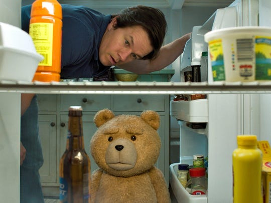 """""""Ted 2,"""" starring Mark Wahlberg and Seth MacFarlane as the voice of Ted, had grossed just $59 million going into this weekend. It likely will struggle to get to even one-third the total ($218 million) of the first film."""
