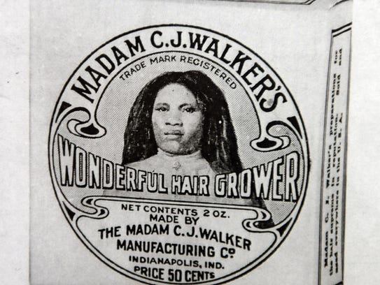 original label by Mme C.J. Walker on her quality hair