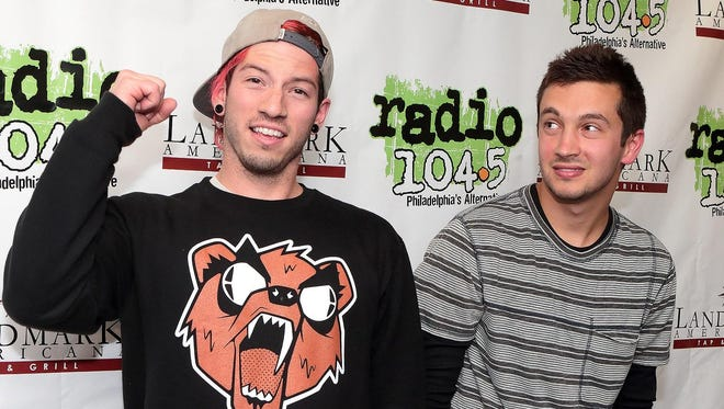 Twenty One Pilots (Josh Dun, left, and Tyler Joseph) will perform on Sept. 20 at Farm Bureau Insurance Lawn at White River State Park.