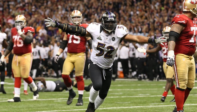 Despite a major third-quarter hiccup in Super Bowl XLVII, Ravens LB Ray Lewis eventually celebrated his second championship.