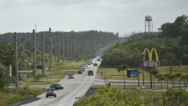 This Jan. 30, 2016 photo shows Route 3, which runs adjacent to Naval Computer and Telecommunications Station Guam. The U.S. Navy is proposing to lease land in South Finegayan, near NCTS, for a solar power project.