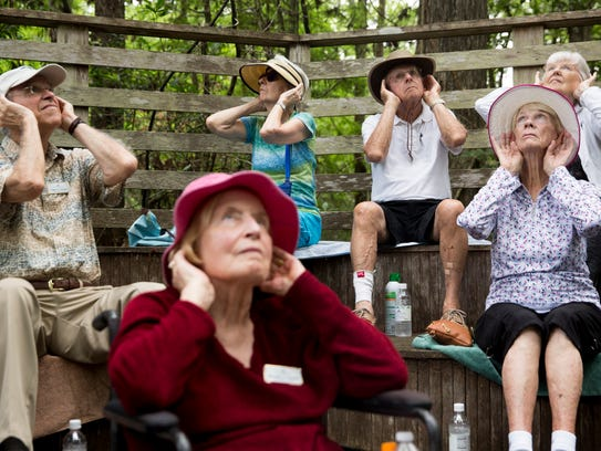 Residents of The Arlington, a retirement community