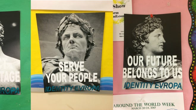 These posters appeared recently on the York College campus.