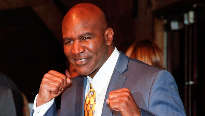 """Evander Holyfield attends a special screening of """"Champs"""" at the Village East Cinema on March 12, 2015, in New York."""