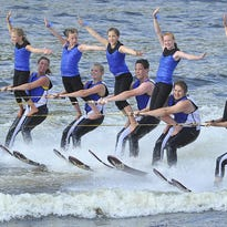 Aqua Skiers perform at the 49th annual Wisconsin State Water Ski Show