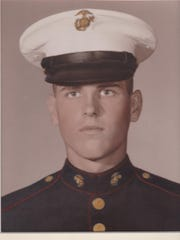 Victor Lee Burns in his dress blues.