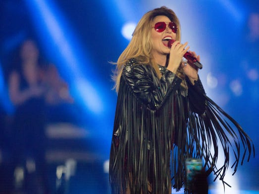 Shania Twain performs at Wells Fargo Arena in Des Moines,
