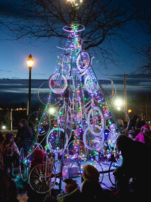 Beacon's Bicycle Christmas Tree is shown during the 2014 event.