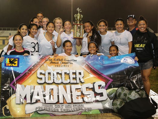 The Guam High School Panthers pose for a team photo