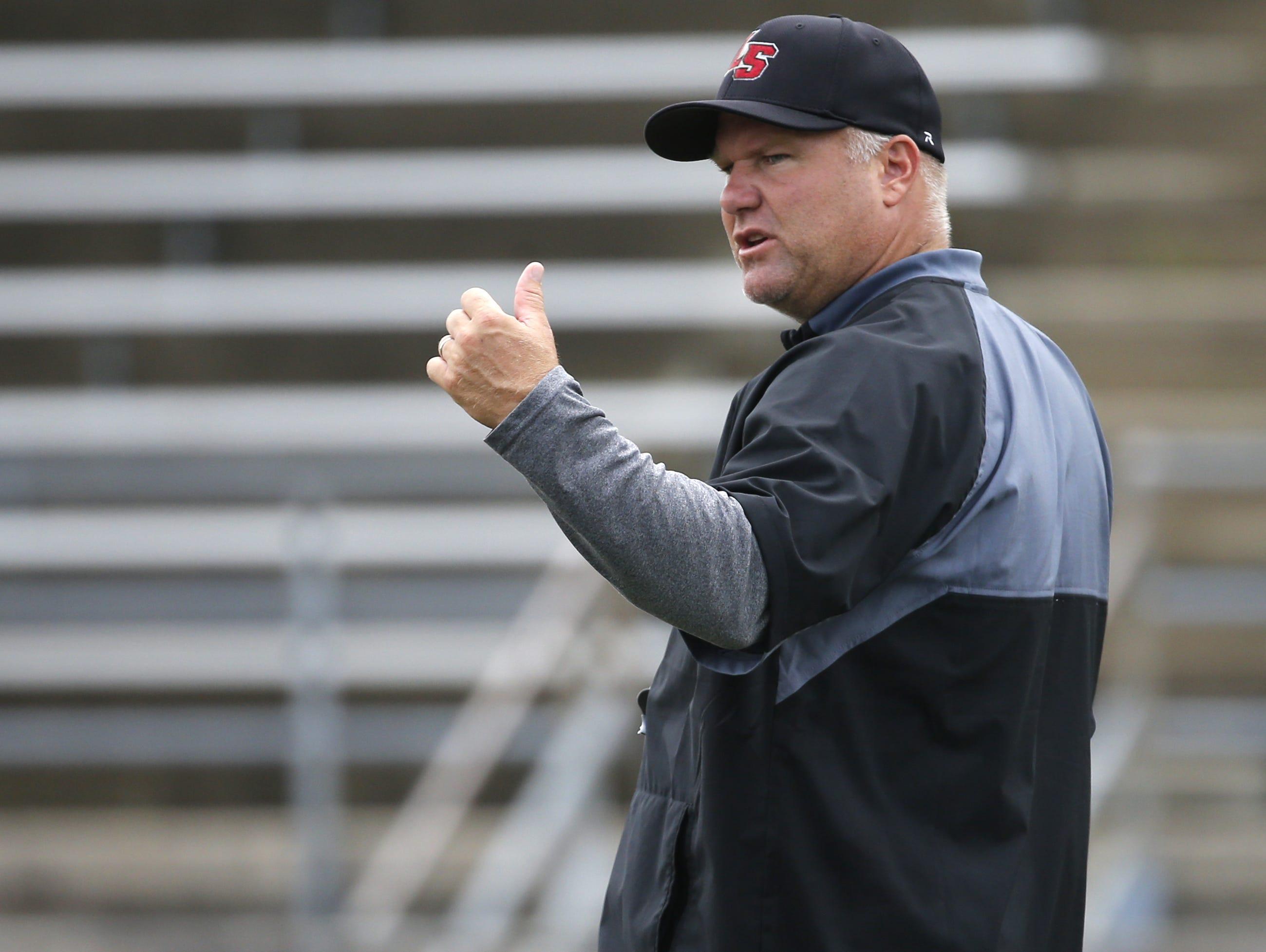 La Salle head football coach Jim Hilvert