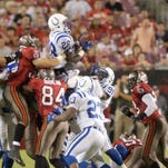 A comeback for the ages: The Colts staged a 21-point comeback in less than four minutes to pull off a stunning rally on a Monday night in Tampa Bay in 2003.