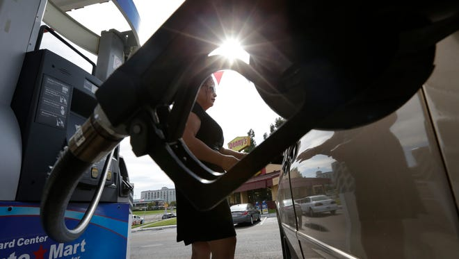 Gas prices vary quite a bit by state with the West Coast generally having higher prices.