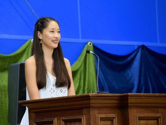 Poughkeepsie Day School graduate Sonomi Oyagi, who
