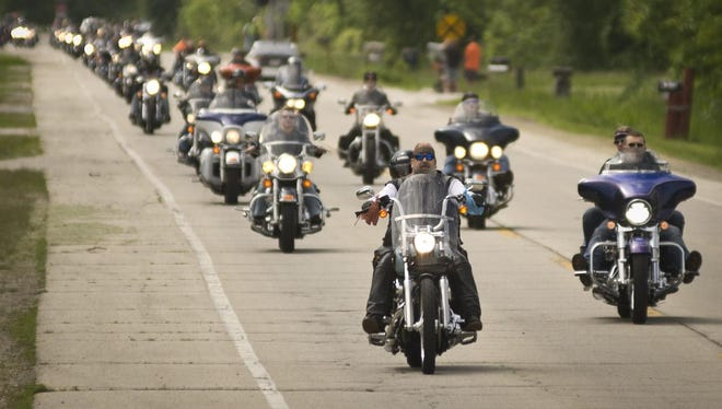 Bikers from around Wisconsin will fill the highway for the ride to Peshtigo before heading back to Lambeau Field for the remainder of the Jerry Parins Cruise for Cancer on June 13.