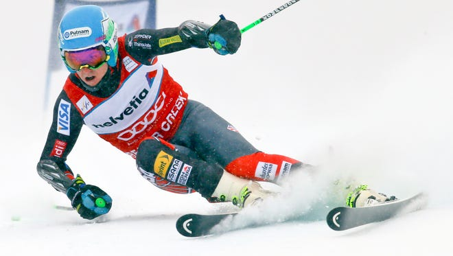 Ted Ligety (USA) during the men's giant slalom at the FIS alpine skiing World Cup at Beaver Creek Mountain in Colorado on Sunday.