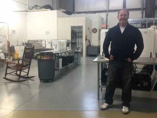 Caine Fowler at the Skunktown Distillery facility.