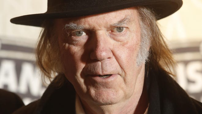Neil Young at the 2014 Musicians Hall of Fame Induction Ceremony in Nashville in January.