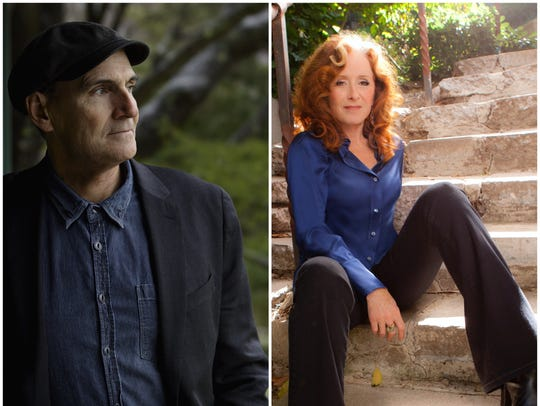 James Taylor and Bonnie Raitt will team up for a concert at Thompson-Boling Arena in February.