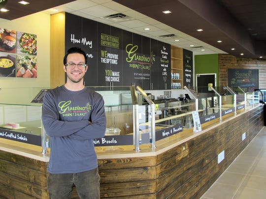 Co-owner Daniel Collar at his new Giardino Gourmet Salads, 3370 Pine Ridge Road, in Naples.