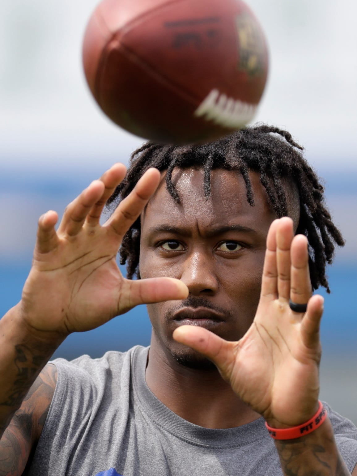 New York Giants wide receiver Brandon Marshall is on