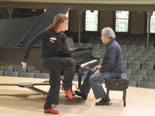 Cheryl Johnson and Richard DeLaney in rehearsal