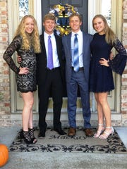 The Mackay quadruplets (from left) Ellie, Brett, Austin and Kamryn will be graduating with the Novi class of 2018.