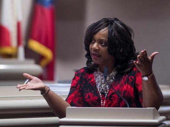 Rep. Merika Coleman during debate on the house floor
