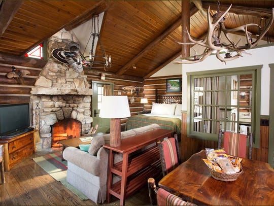 The interior of a portion of Big Cedar Lodge, a resort