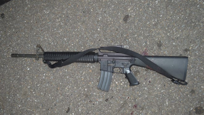 """Buncombe County District Attorney Todd Williams released this image Thursday of the AR-15 rifle Jai """"Jerry"""" Williams possessed when he was fatally shot by an Asheville police officer on July 2 at Deaverview Apartments after a chase."""