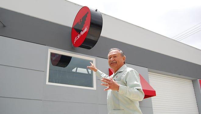 UFW President Arturo Rodriguez outside Salinas facility at Sunday's grand opening.