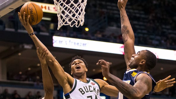 Giannis Antetokounmpo and the Bucks come out of the