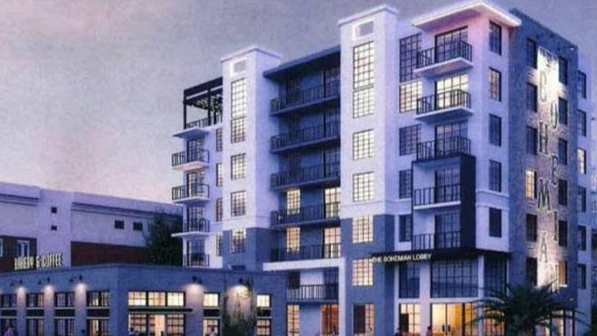 The Bohemian is a proposed 186-unit, seven-story rental apartment complex that would be build on East Coast Street just south of Lake Avenue.