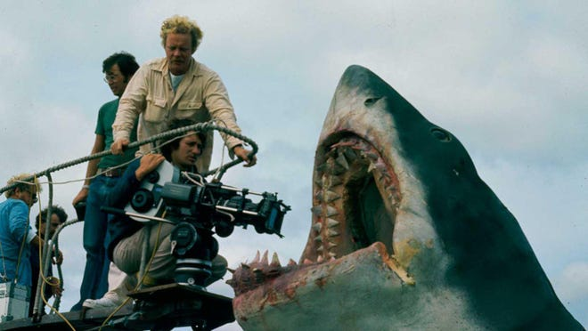 """Making of """"Jaws"""": Steven Spielberg and Bruce the shark. Contributed by Academy of Motion Picture Arts and Sciences"""