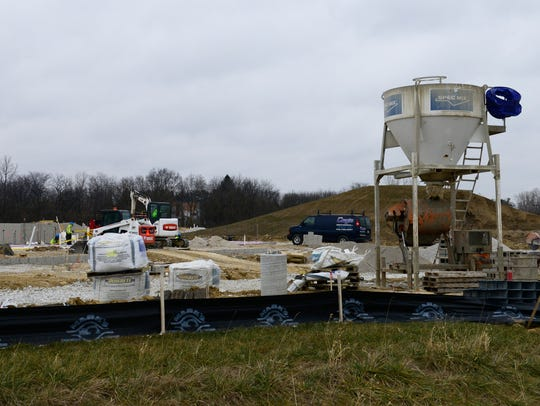 Water, sewer and plumbing work on the Landings at Terra