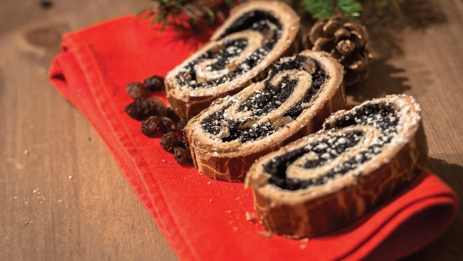 Makowiec, or Hungarian poppy-seed rolls