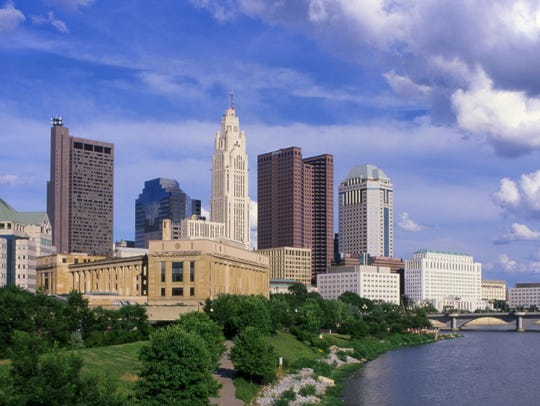 The Columbus skyline
