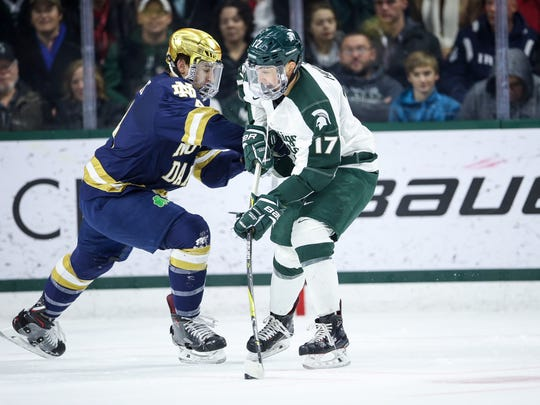 Michigan State junior forward Taro Hirose signed a contract with the Detroit Red Wings on Tuesday.