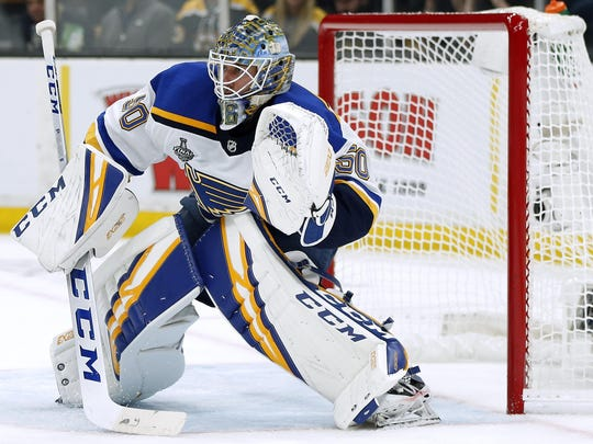 Blues goalie Jordan Binnington improved to 6-2 in the playoffs after a loss after being 6-0 in those situations during the regular season.