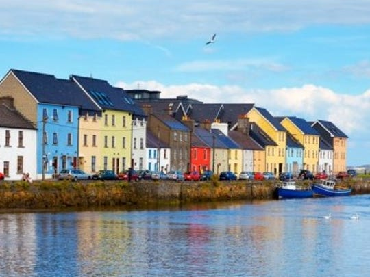 Colorful houses in the Claddagh.
