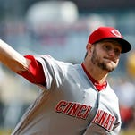 Cincinnati Reds starting pitcher Josh Smith throws against the Pittsburgh Pirates in the first inning