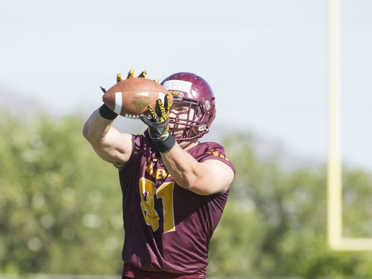 Freshman Jared Bubak is a latest addition to a growing group of ASU tight ends.