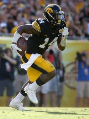 Desmond King was not only an excellent defensive back at Iowa (14 interceptions), he was also a sensational kick returner. He was chosen by the Los Angeles Chargers with a fifth-round pick Saturday.